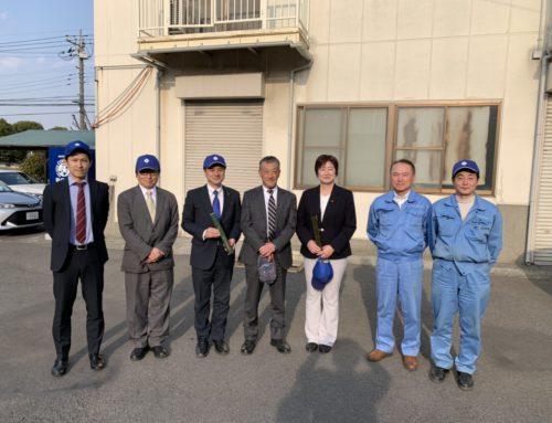 神奈川県議会議員の佐々木正行様と神奈川県相模原市議会議員のうしろだ博美様が 相模原工場へ来社されました。